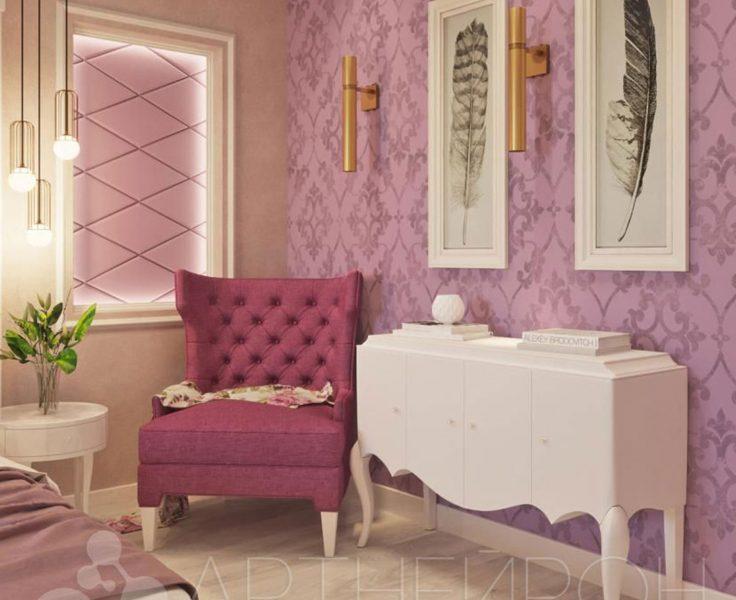 Дизайн комнаты в розовых тонах