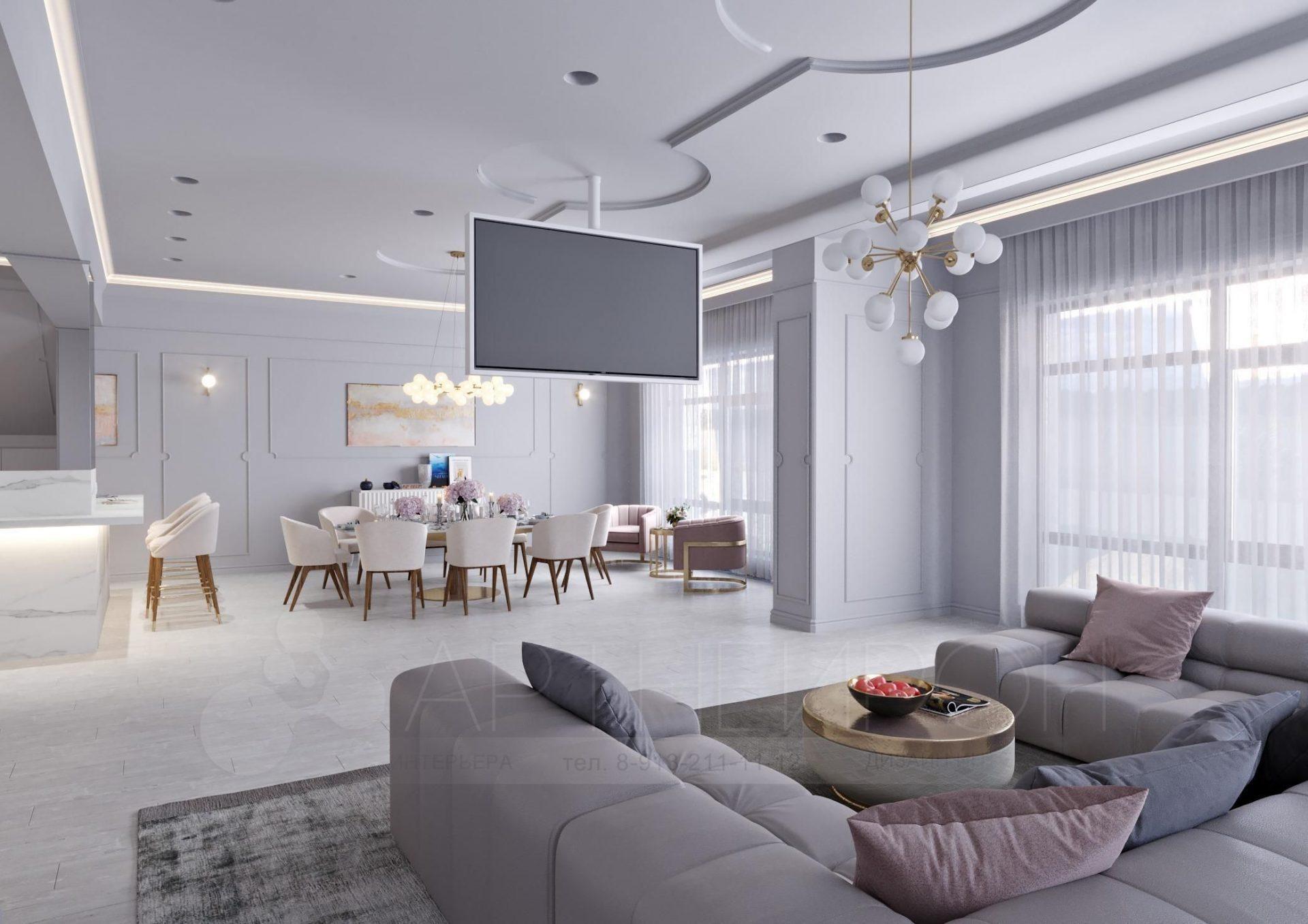 Дизайн интерьера дома для семьи в Барнауле