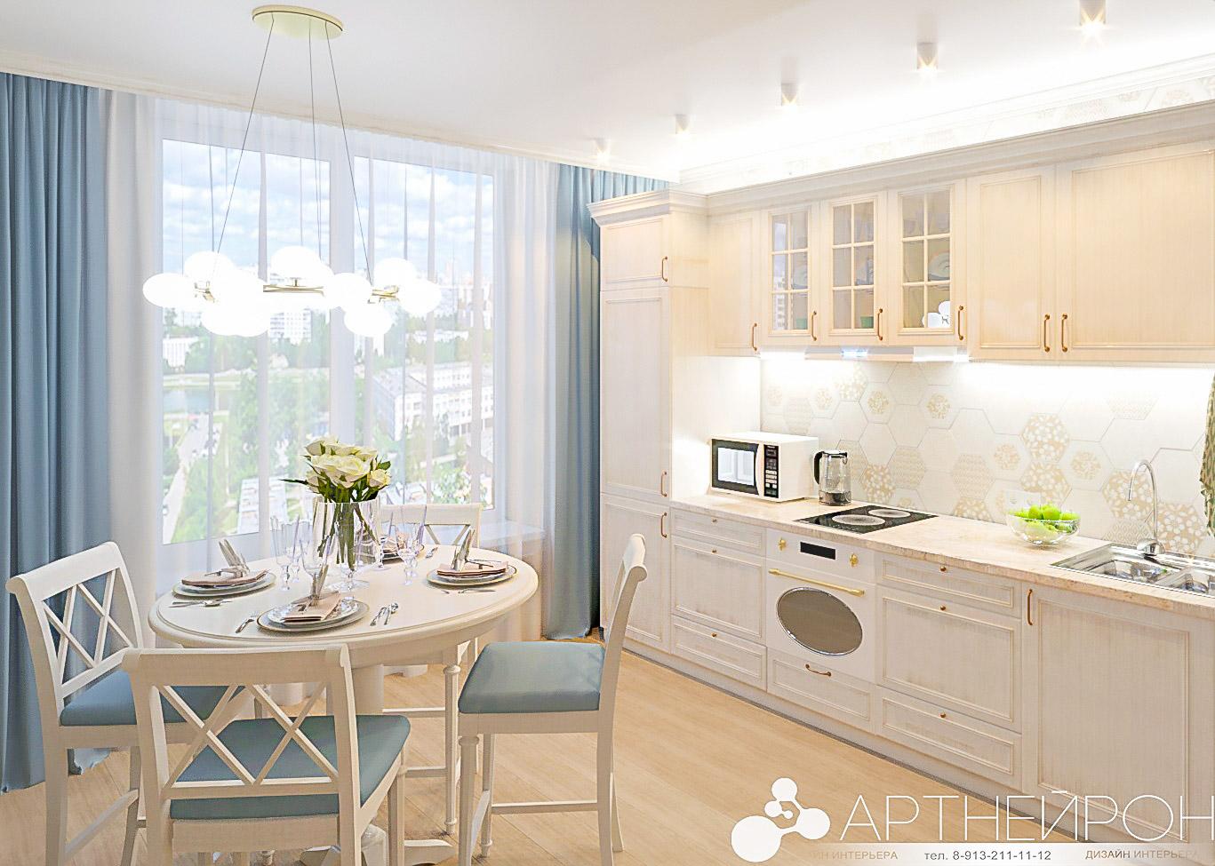 Дизайн квартиры в пудровых тонах в Барнауле